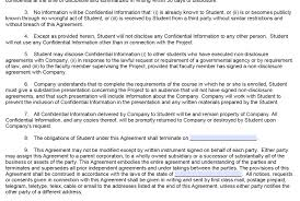 Student Agreement Contract document template : Nda Document legal law forms 4 panel brochure ...