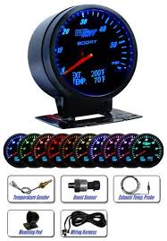glowshift gs 3g 01 179 99 plus 0 00 instant coupon glowshift 3 in 1 black face boost and digital egt and temperature gauge
