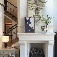 Abstract Art Over Fireplace Design Ideas