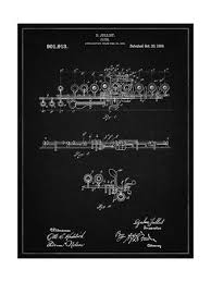 PP820-<b>Vintage Black Flute</b> 1908 Patent Poster Giclee Print by Cole ...