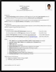 Cover Letter C Programmer Resume Objective C Programmer Resume