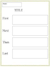 Graphic Organizers Sequence Of Events Chart First Next Then Last Graphic Organizer Template K 5