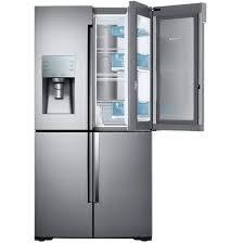 4 door flex french door refrigerator in stainless steel