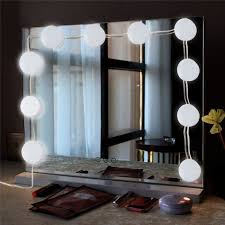 bathroom vanity mirror lights. USB 10 LED Vanity Mirror Lights Kit With 5 Brightness Levels Bathroom Vanity Mirror Lights