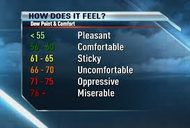 Dew Point Feels Like Chart News 8 Weather Blog Dew Point The Best Indicator Of Comfort