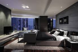 modern contemporary bedroom furniture complete with widescreen tv and large windows amazing city night views contemporer bedroom ideas large t38 ideas