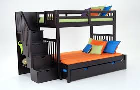 trundle bunk bed keystone stairway twin full bunk bed with perfection innerspring mattresses and storage trundle unit bobs furniture bunk bed with