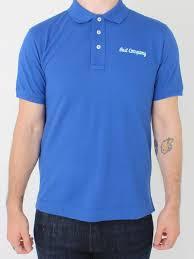 Design Polo Shirts Uk Basic Logo Polo Blue