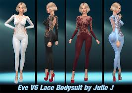 Eve V6 Lace Bodysuit by Julie J - Downloads - The Sims 4 - LoversLab