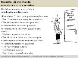 administrative clerk interview questionsfree pdf       top useful job materials for administrative clerk
