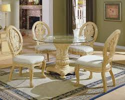 table great antique white dining room set antique white traditional 5pc dining set wround clear glass top