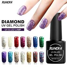 Ruhoya 8 мл <b>супер</b> бриллиантовыми <b>гель лак для ногтей</b> лак ...