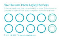loyalty card template online print templates printing com