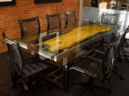 Image Boardroom Table Custom Conference Table By Where Wood Meets Steel Workspace Solutions Unique Conference Room Tables Feature Design Ideas Cool Of