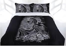 gothic green eyed dragon bed doona