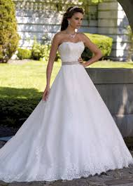 Strapless Lace Jeweled Ball Gown Wedding Dress 113206 Margie