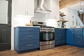 blue cabinets from wolf home s wolf designer indigo kitchen cabinets