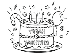 Printable Birthday Candles Coloring Pages Online Games Halloween For