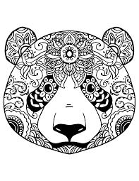 Coloriage Gratuit Adorable Panda Colorier Artherapie Ca