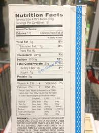 Miguel S Nutrition Chart Costco 1048300 Don Miguel Mini Chicken Tacos Chart
