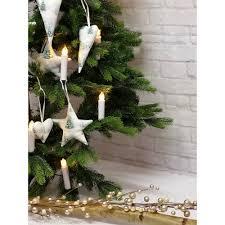 4 Sterne Christbaumschmuck Aus Stoff Weiß Weihnachtsdeko