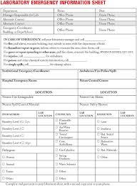 chemical information sheet appendix f sample forms for chemical handling and management