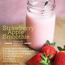 strawberry apple smoothie peach greek yogurt is a great subsute too idealshape