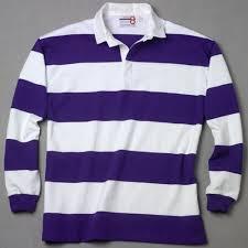 white purple rugby shirt