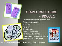 How To Make Travel Brochure Travel Brochure Historial Event Or Civilization Activity From Love