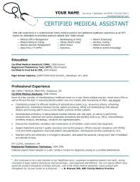 Resume Examples For Medical Assistant Wonderful Entry Level Medical Assistant Resume Examples Funfpandroidco