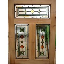 stained glass front door panels 5 panel original stained glass exterior door glass a 5 panel