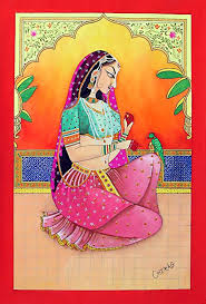 rajput princess miniature painting from rajasthan india s facebook nikhaarfashions