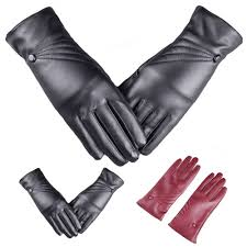 details about fashion 1pair winter warm women faux leather gloves cashmere super gloves gift