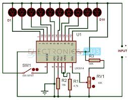 17 best ideas about electrical circuit diagram battery level indicator circuit using lm3914