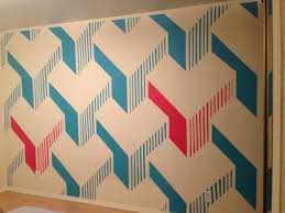 Painting Patterns On Walls Give This Guy Some Paint And Tape The End Result Will Shock You