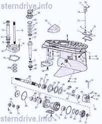 Omc Stern Drive Propeller Chart Omc Cobra Parts Drawing V6 V8 Lower Unit 1 22