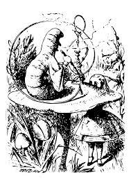 Kleurplaat Alice In Wonderland Meneer Rups Afb 19042 Images