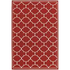valley red 9 ft x 13 ft indoor outdoor area rug