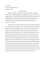 slaughterhouse five essay mrs rhoads grade honors english  1 pages the great gatsby essay
