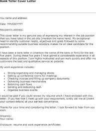 gallery of bank teller cover letter good resume for bank teller