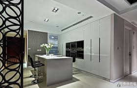 Contemporary Semi Open Kitchen Decoration Interior