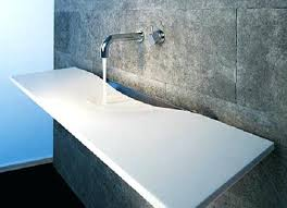 rare bathroom sink countertop one piece photo inspirations masilco inside awesome bathroom countertop sink