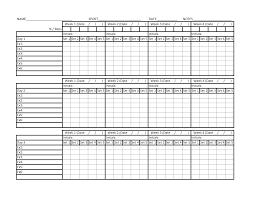 Exercise Chart Template