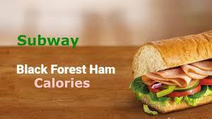 subway black forest ham calories