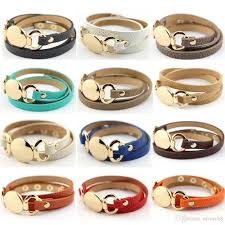2019 new style monogram leather bracelet hottest trendy with blank disc multiple wrap leather bracelet from saveach8 1 93 dhgate com