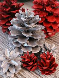 Image result for painted pine cones