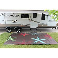 creative rv patio mats 9x12 com mat rug colorful fl design garden