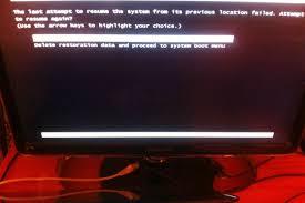 أريد حلا لمشكلة Windows Resume Loader صيانة الكمبيوتر وحلول