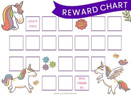38 Right Unicorn Reward Chart Printable