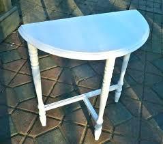 half circle accent tables table black semi
